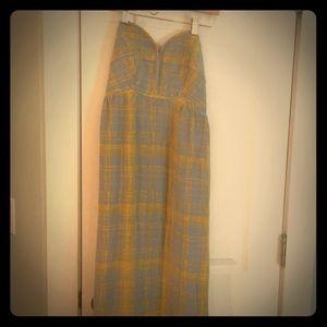 Strapless Anthropologie Maxi Dress size 6